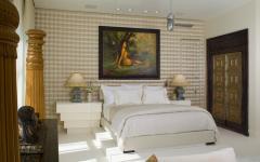 chambre à coucher en blanc design