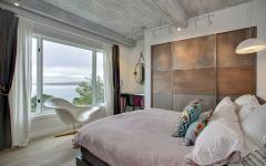 chambre sobre moderne à la décoration éclectique