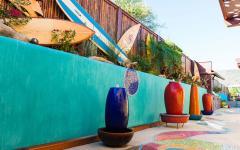 aménagement et décoration terrasse villa de vacances plage