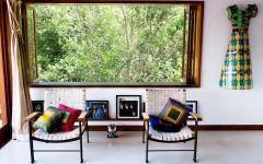 ameublement éclectique design chaleureux villa