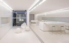intérieur futuriste design minimaliste appartement citadin