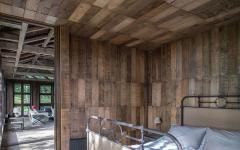chambre petite intérieur en bois minimaliste