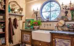 ambiance conviviale design rustique salle de bains