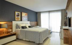chambre lit double maison familiale design contemporain