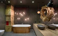 salle de bain spacieuse design industriel