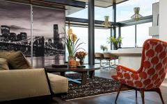 séjour et cuisine salle à manger appartement vue sur la mer