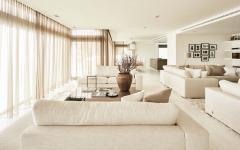 salon séjour minimaliste design luxe élégant