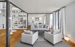 salon appartement en duplex rénové avec vue