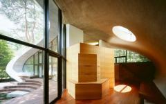 architecture intérieure en bois japonais