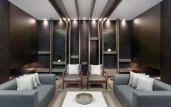 salon espace public immeuble de standing moderne