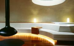 cheminée moderne maison futuriste