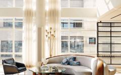 salon lumineux vue résidence de prestige new york