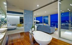 salle de bain unique spacieuse design