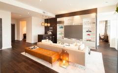 mobilier salon grand canapé d'angle design luxe