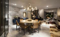 salle à manger originale marbre