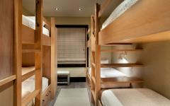 lits superposés dortoir rustique chalet de vacances