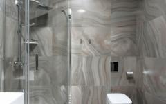 douche moderne salle de bains marbre