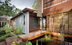 maison en bois écologique verte