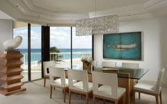 salle à manger appartement luxe exotique
