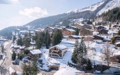 architecture moderne et créative chalet de ski
