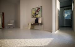 sol mosaïque carrelage de luxe en blanc