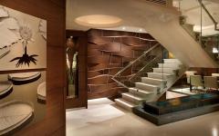 escalier intérieur design luxe