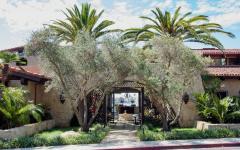 entrée résidence de prestige californie