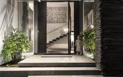 entrée principale maison d'architecte