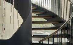 escalier design colimaçon résidence de vacances