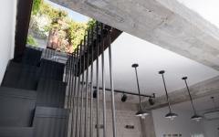 escalier accès fenêtre toit immeuble appartement de ville