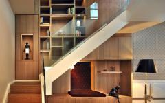 escalier duplex triples étagères