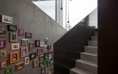 escalier design intérieur maison suisse