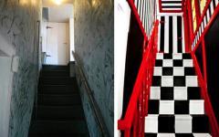 l'escalier ancien et le nouvel escalier tout refait