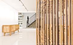 intérieur cloison bois massif design original