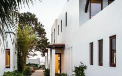 chemin extérieur de la maison d'architecte à Los Angeles