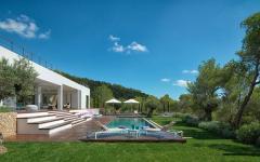 belle piscine villa de vacances luxe