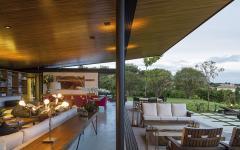 terrasse et séjour ouverts résidence de prestige architecte