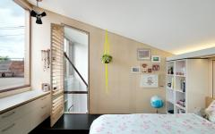 chambre loft industriel transformé maison de ville