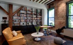 espace travail bureau bibliothèque loft industriel