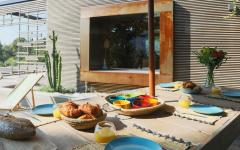 extérieur terrasse piscine villa de luxe