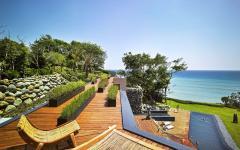 terrasse avec vue mer ciel exotique