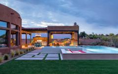 aménagements outdoor de luxe maison été