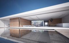 piscine à débordement luxe design prestige