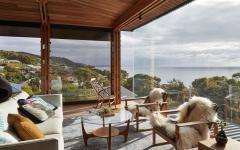 vue panoramique depuis le salon de l'agrandissement de cette villa