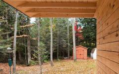 extérieur en bois massif villa montagne canada