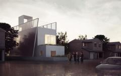 projet de maison flottante d'architecte