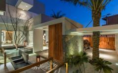 maison d'architecte vue de nuit