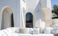 villa de vacances côte italienne terrasse en plein air