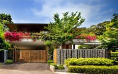façade maison de luxe ouverte verte éco