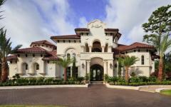 vue générale de la résidence de luxe